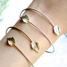 Load image into Gallery viewer, Falling Leaves Bracelet Cuff (Silver & Gold)