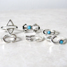 Load image into Gallery viewer, (On Sale!) Arrow and Moon Ring Set (6pc)