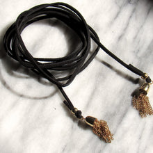 Load image into Gallery viewer, Tassel Suede Choker