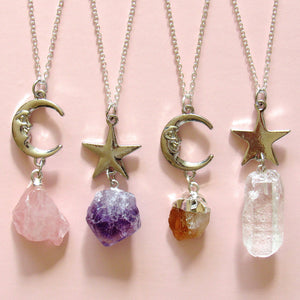 Crystals of Stardust Necklaces (5 Choices)