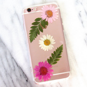 Daisy Picking Real Flower Case (iPhone 6/6s)