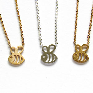 Tiny Bumblebee Necklaces