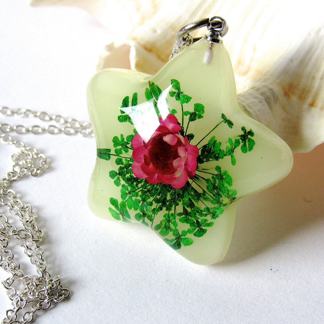 (On Sale) Lotus Garden Real Flower Necklaces