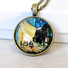 "Load image into Gallery viewer, Van Gogh ""The Cafe Terrace at Night"" Necklace"