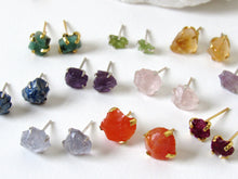 Load image into Gallery viewer, Raw Tourmaline Stud Earrings