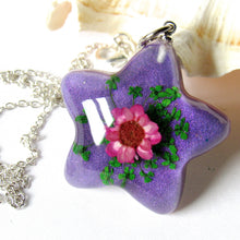 Load image into Gallery viewer, (On Sale!) Shining Star Real Flower Necklaces