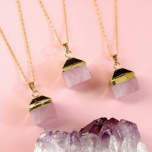 "Load image into Gallery viewer, ""Box of Love"" Rose Quartz Necklaces"