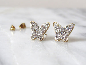 Glittering Butterfly Earrings