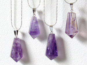 Chandelier Amethyst Necklaces