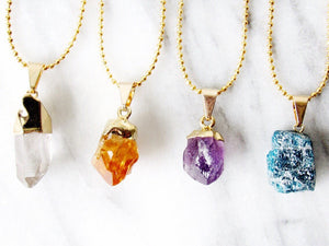 Citrine Point Chokers