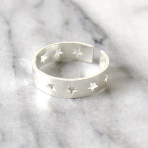 "Silver ""Ring of Stars"" Rings"