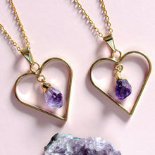 Load image into Gallery viewer, Sweetheart Amethyst Necklaces