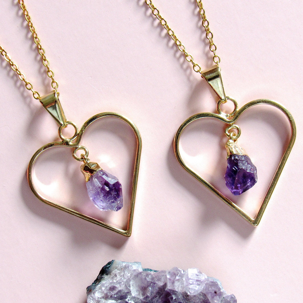Sweetheart Amethyst Necklaces