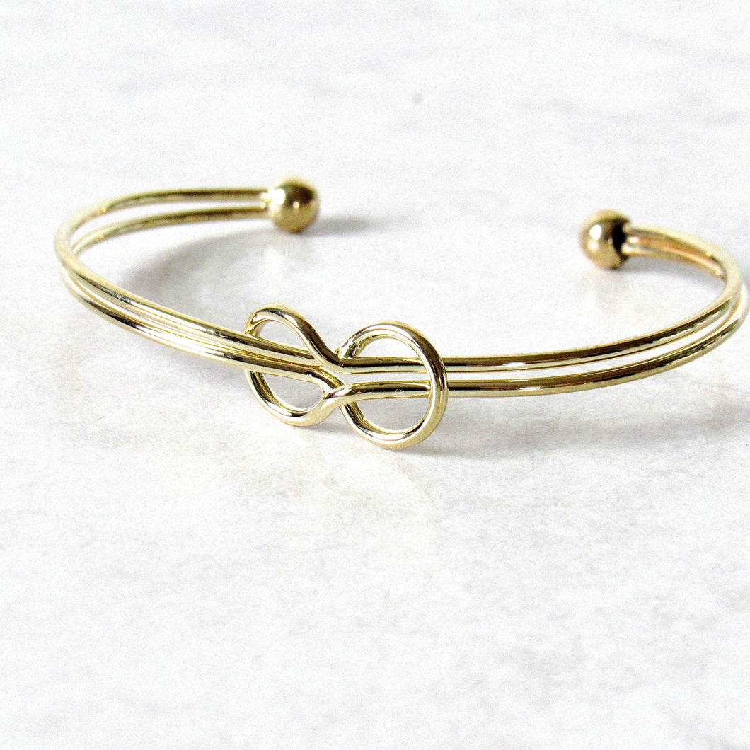 Gold Infinite Love Bangle