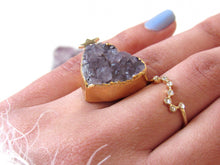 Load image into Gallery viewer, Amethyst Heart Rings