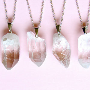 Clear Quartz Crystal Necklaces