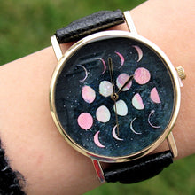 Load image into Gallery viewer, (On Sale!) Lunar Phases Watch (5 Strap Colors Available)
