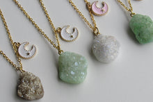 Load image into Gallery viewer, Golden Druzy Necklaces