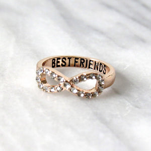 Rose Gold Friends for Life Rings