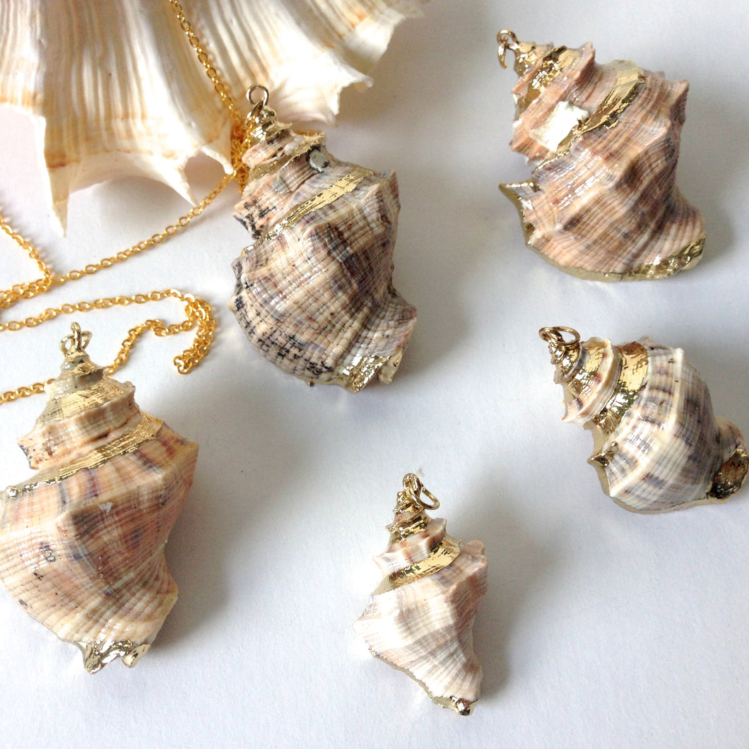 (On Sale!) Golden Conch Shell Necklaces