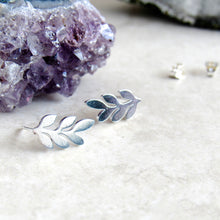 Load image into Gallery viewer, Silver Leaf Earrings