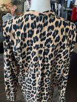 Joseph Ribkoff animal print blouse