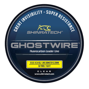 Shinratech Ghostwire Fluorocarbon Leader Line - 10lb 50yard spool
