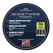 Load image into Gallery viewer, Shinratech Ghostwire Fluorocarbon Leader Line - 10lb 50yard spool