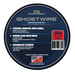 Shinratech Ghostwire Fluorocarbon Leader Line - 20lb 50yard spool