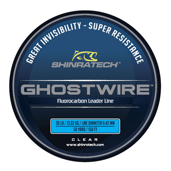 Shinratech Ghostwire Fluorocarbon Leader Line - 30lb 50yard spool