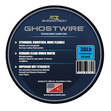 Load image into Gallery viewer, Shinratech Ghostwire Fluorocarbon Leader Line - 30lb 50yard spool