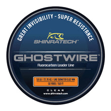 Load image into Gallery viewer, Shinratech Ghostwire Fluorocarbon Leader Line - 50lb 50yard spool