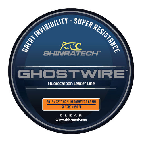 Shinratech Ghostwire Fluorocarbon Leader Line - 50lb 50yard spool