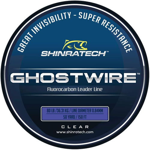 Shinratech Ghostwire Fluorocarbon Leader Line - 80lb 50yard spool