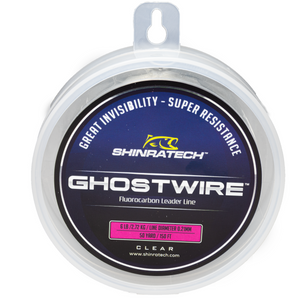 Shinratech Ghostwire Fluorocarbon Leader Line - 6lb 50yard spool