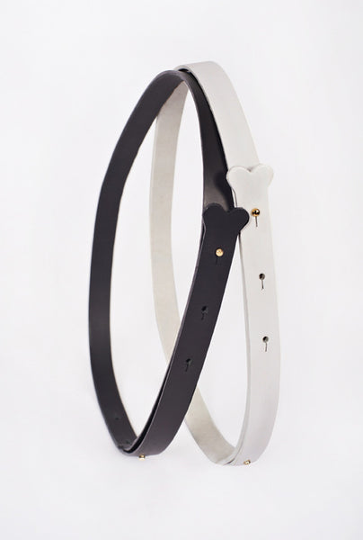 Sam Leather Stud Bone Belt  - £199