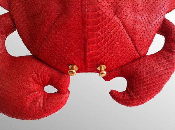 Daja Fanny Pack - Red Snake leather  £599