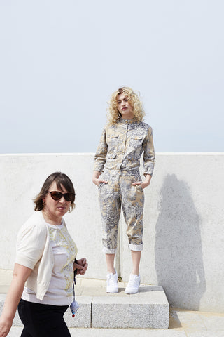 HADJIO SIREN SUIT IN NUDE TOILE