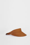 Nut Brown Leather Visor  £188