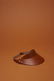 Brown Leather Visor