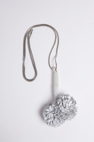 White Pom Pom Necklace - £188