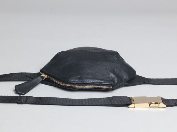 Black Napa Mini Muff  / Fanny Pack -  £179