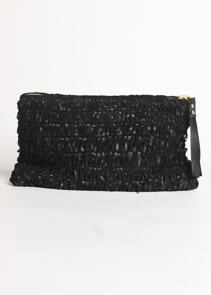 Wei Wei Knitted Leather Clutch - £349