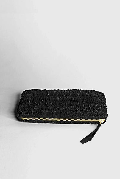 Black Wei Wei Knitted leather Clutch - £349