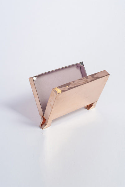 MADE TO ORDER Copper Clutch bag - £1699