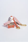 Pink Leather Key Chain - £29