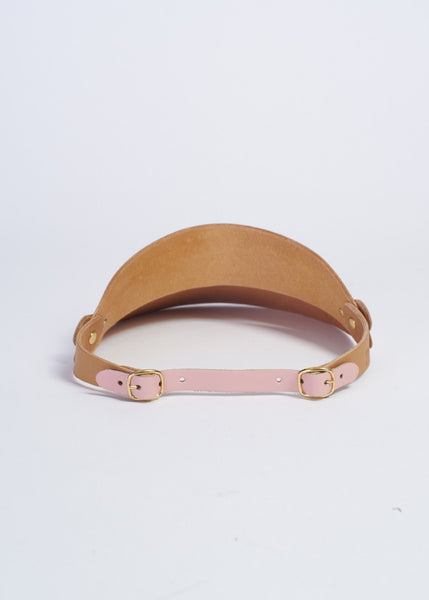 Pink Leather Visor £188