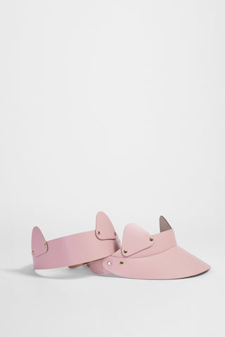 Pink Cat Ear Leather Visor £189