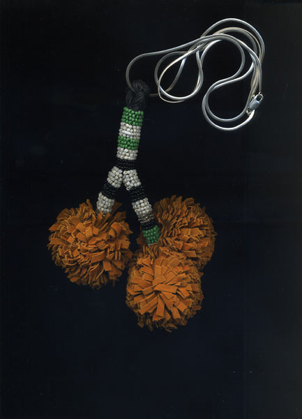 Orange Pom Pom Necklace - £198