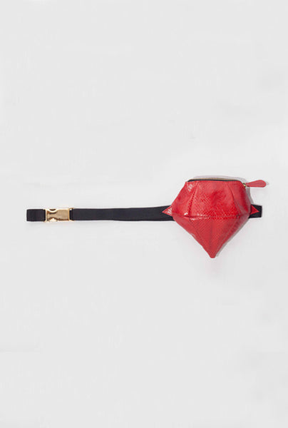 Red Watersnake Mini Muff - Fanny Pack  £179